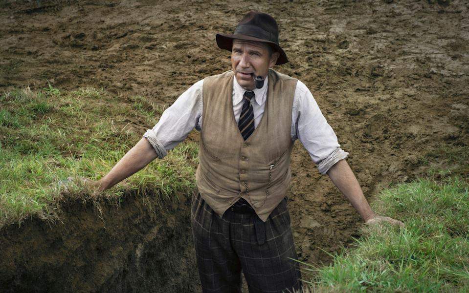 Ralph Fiennes plays pioneering amateur archaeologist Basil Brown in The Dig - Larry Horricks/Netflix