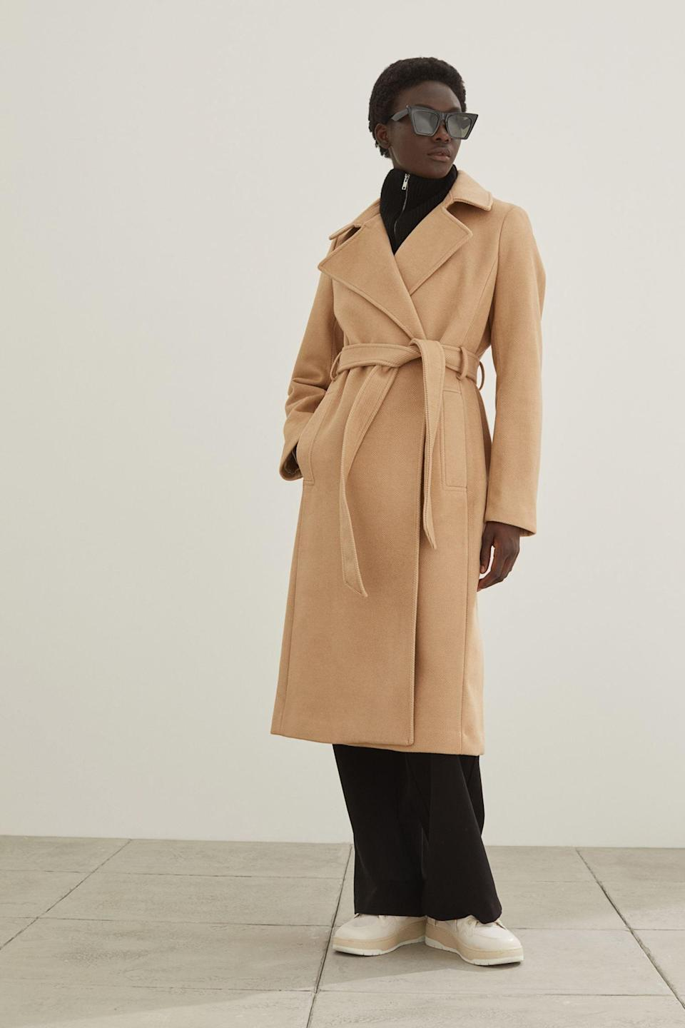 <p>For a timeless coat you'll turn to season after season, direct your attention to this <span>H&amp;M Tie Belt Coat</span> ($60). It packs a lot of attitude, ensuring you look put-together every time you slip into it.</p>