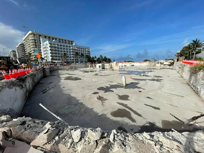 A photo posted July 20 on Twitter by Florida Sen. Jason Pizzo, D-North Miami Beach, shows the Champlain Towers South site cleared of all rubble from the tower's collapse.