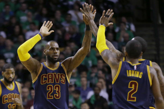 Could LeBron James and Kyrie Irving go back to the good old days? (AP Photo/Elise Amendola)