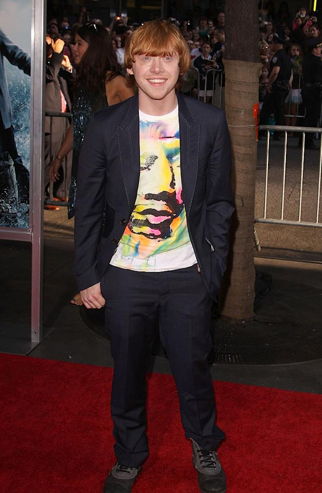 """<a href=""""http://movies.yahoo.com/movie/contributor/1802866082"""">Rupert Grint</a> at the New York premiere of <a href=""""http://movies.yahoo.com/movie/1809791044/info"""">Harry Potter and the Half-Blood Prince</a> - 07/09/2009"""