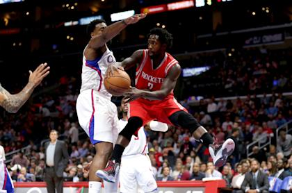 Patrick Beverley tested his wrist twice Monday. (Getty)