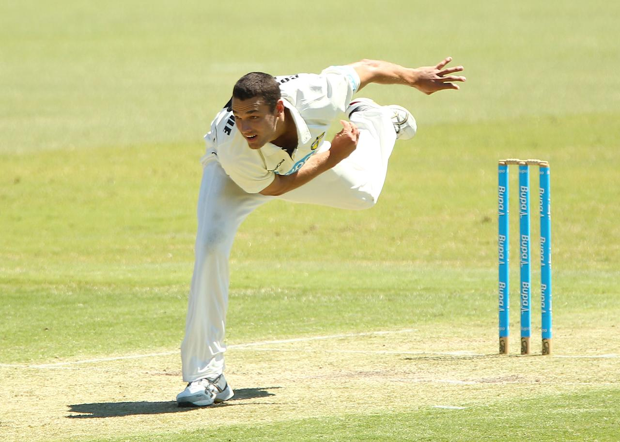 PERTH, AUSTRALIA - OCTOBER 01:  Nathan Coulter-Nile of the Warriors bowls during day two of the Sheffield Shield match between the Western Australia Warriors and the Victorian Bushrangers at the WACA on October 1, 2012 in Perth, Australia.  (Photo by Paul Kane/Getty Images)