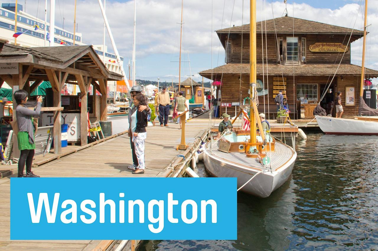 "Take an hour sailboat cruise on Seattle's shimmering Lake Union, free every Sunday with the <a href=""http://cwb.org/events/cast-off/"">Center for Wooden Boats.</a>"