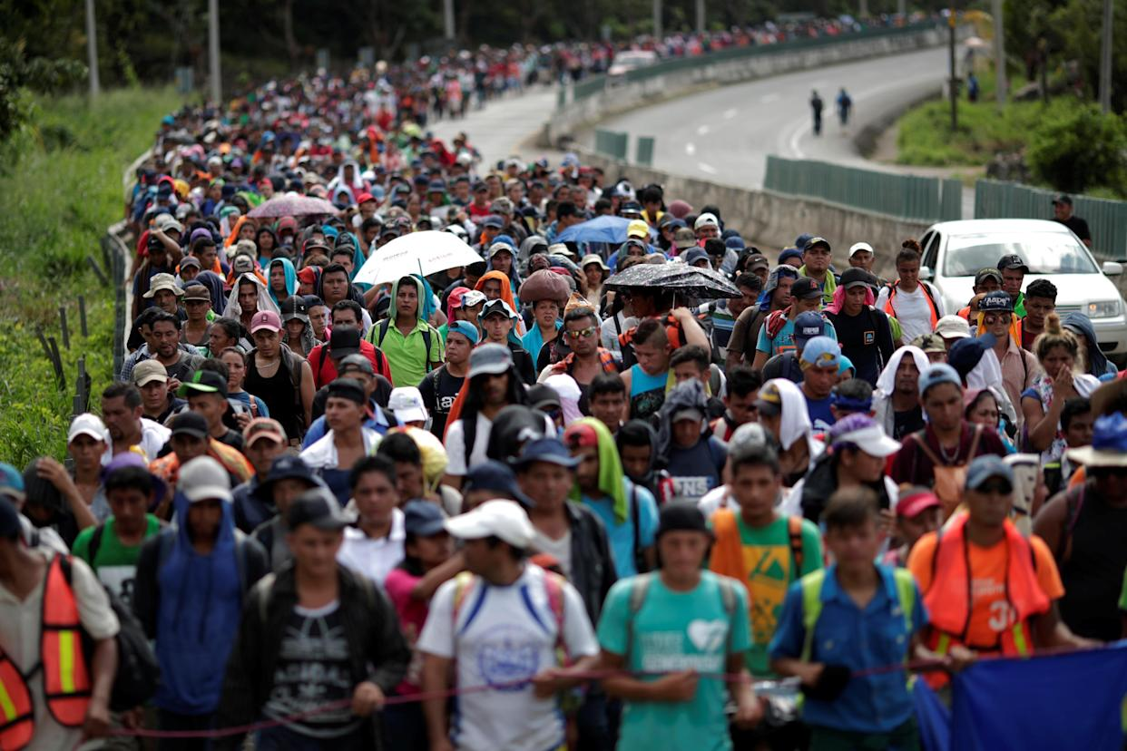 Migrants traveling from Central America to the United States, Nov. 5, 2018. (Photo: Ueslei Marcelino/Reuters)