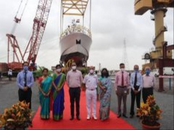 Interceptor Boat ICGS C-454 was launched at Surat (picture tweeted by PRO Defence Gandhinagar)