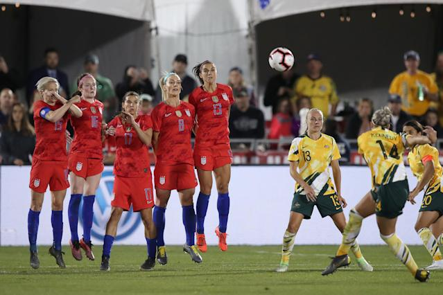 The U.S. women's national soccer team has lost out on performance bonuses due to World Cup prep. (Getty Images)