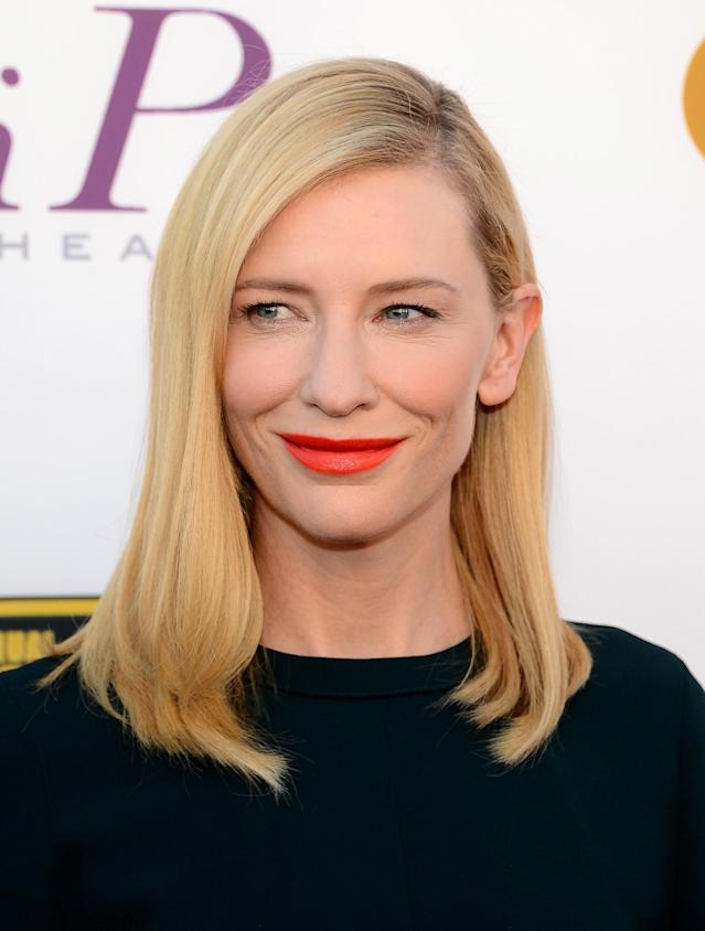 <p>Cate Blanchett attends the 19th Critics' Choice Movie Awards at Barker Hangar on Jan. 16, 2014, in Santa Monica, Calif. (Photo: Getty Images) </p>