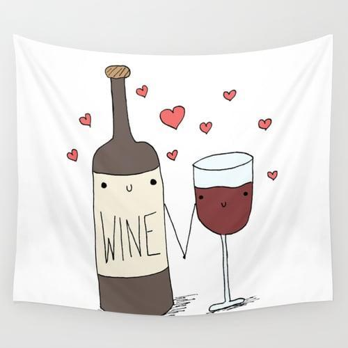 <p>They can use this <span>Wine Wall Tapestry</span> ($31, originally $45) as a tablecloth or cute picnic blanket.</p>