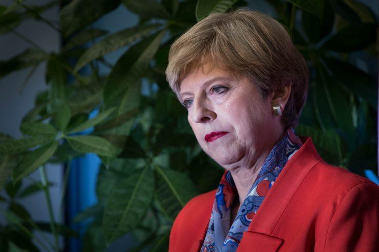 A BBC reporter has apologised after commenting on Theresa May's make-up last night [Photo: PA Images]