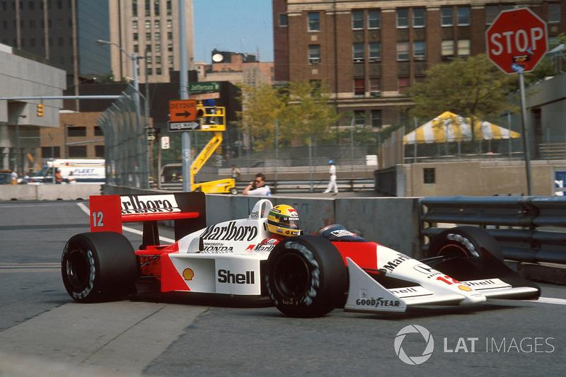 "Ayrton Senna - McLaren MP4 / 4-Honda - GP de Estados Unidos de 1988 <span class=""copyright"">Sutton Motorsport Images</span>"