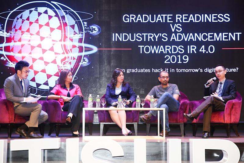 From left: Ooi, Salika, Tan, Amran and Wong exchange insights during the panel discussion.