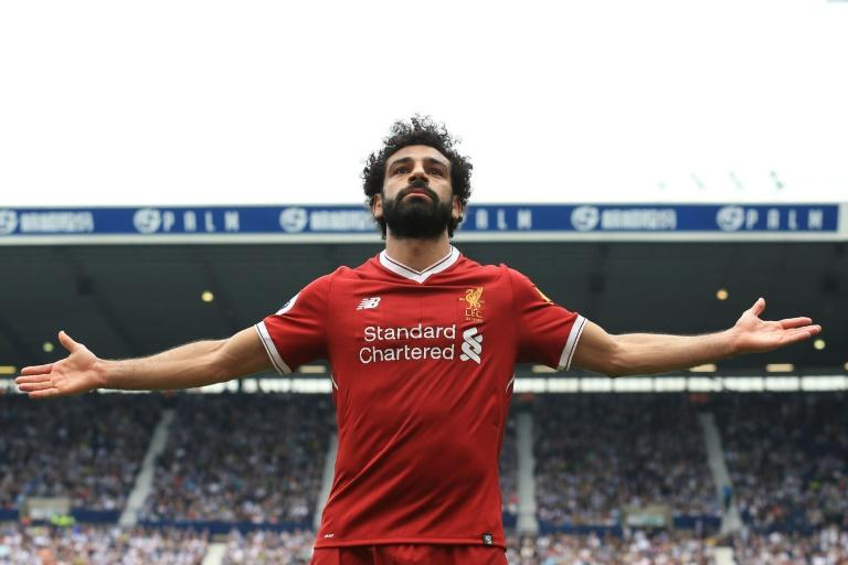 Mohamed Salah scored 44 goals in a prolific debut season at Liverpool