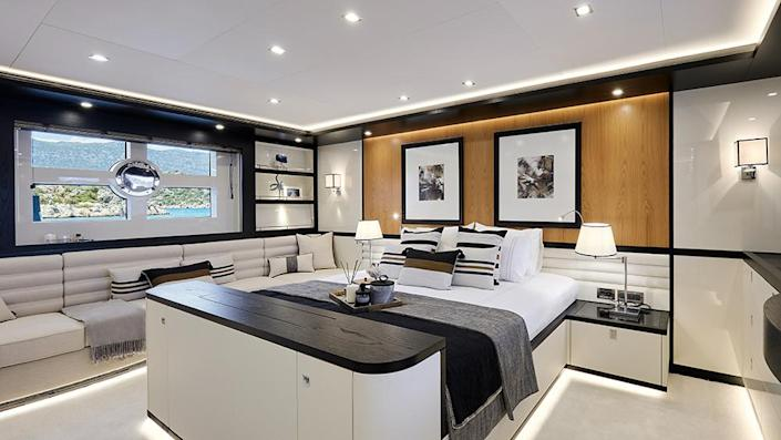 The vessel can sleep a total of six seafarers. - Credit: Bering Yachts