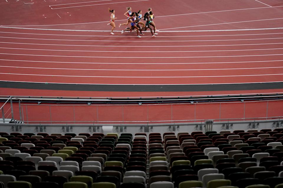 Tokyo Olympics Not Being There (Copyright 2021 The Associated Press. All rights reserved)