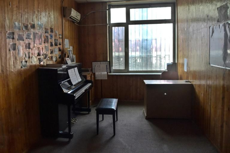 Music students have, with heavy heart, abandoned their instruments at their college (AFP/WAKIL KOHSAR)