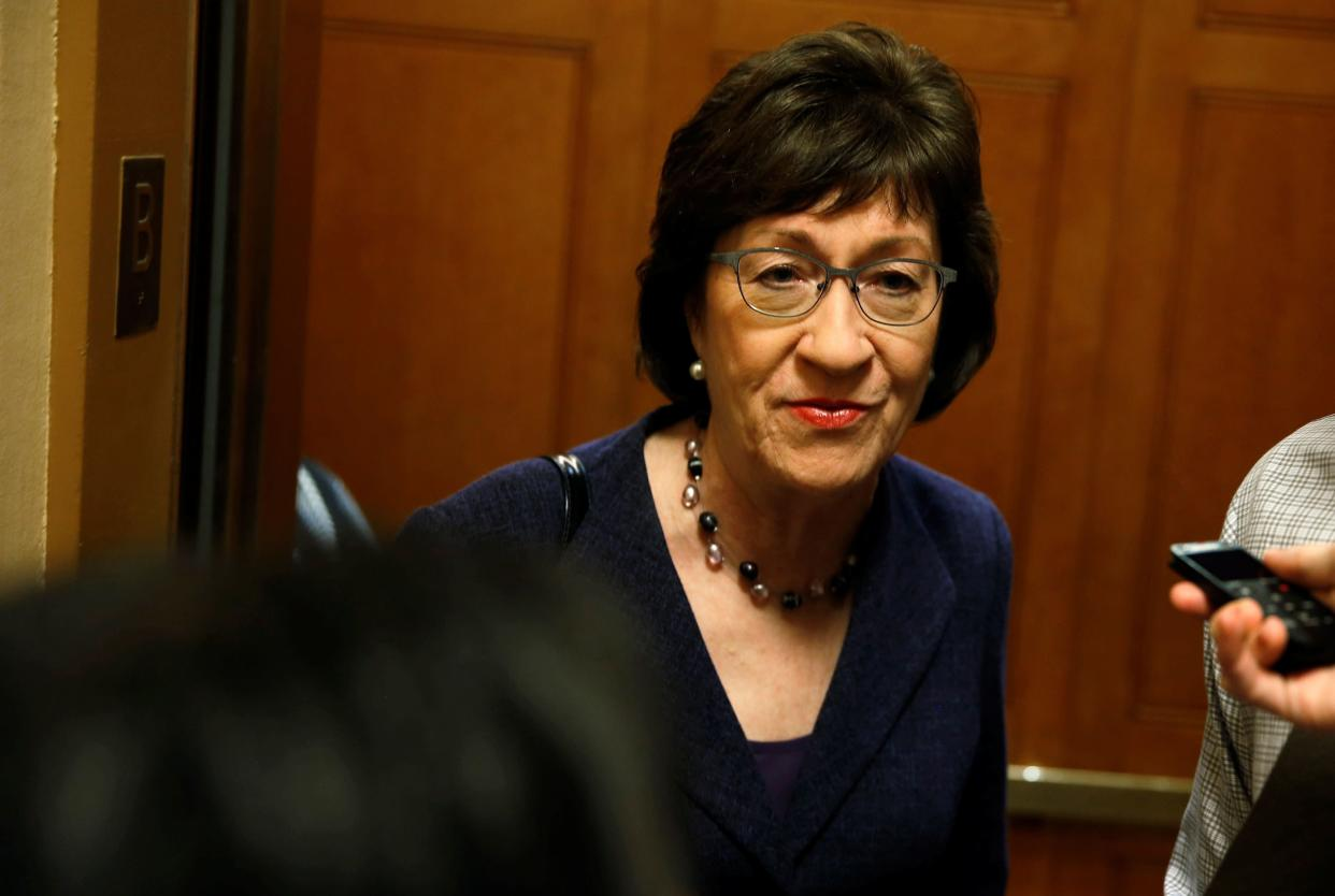 A vote for Kavanaugh would destroy Sen. Susan Collins' independent, pro-health care, pro-women's rights reputation. (Photo: Joshua Roberts / Reuters)