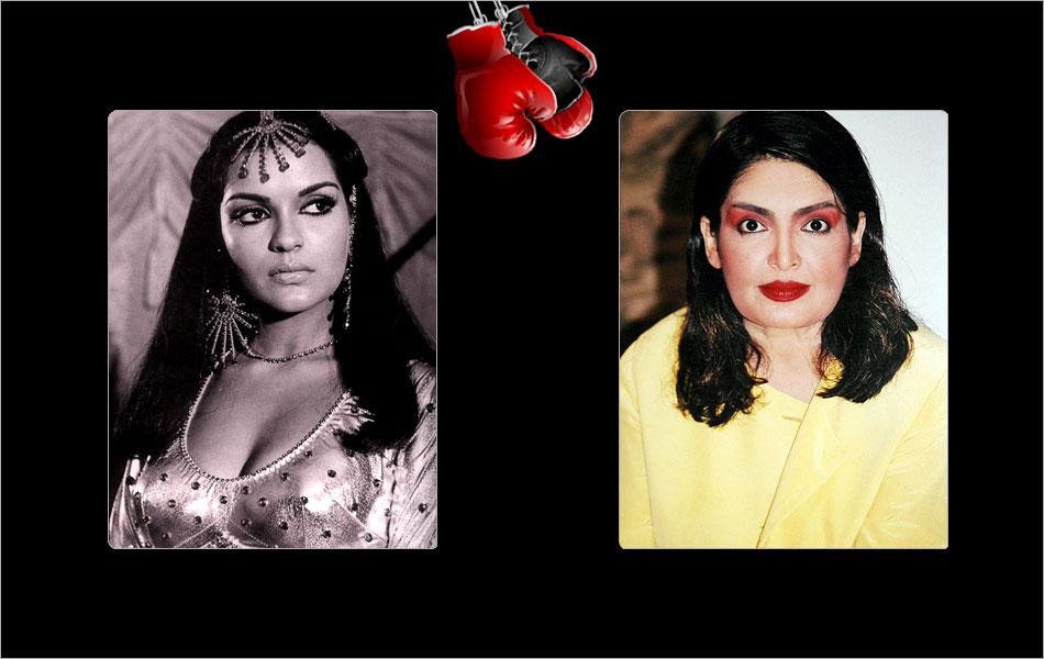 I still find it difficult to tell them apart but these two Bollywood sirens, Zeenat Aman and Parveen Babi vied for the same films, roles and directors at one point.
