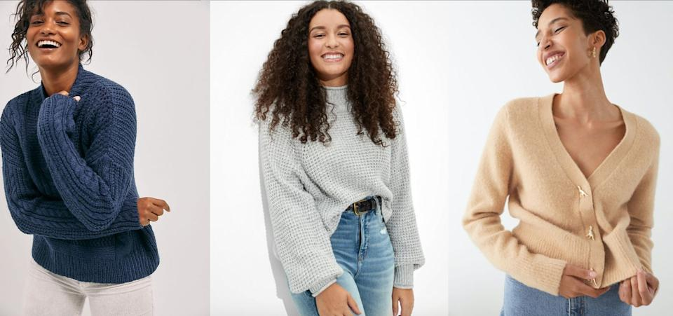 Here's where our shopping editors shop for sweaters. (Photo: HuffPost)