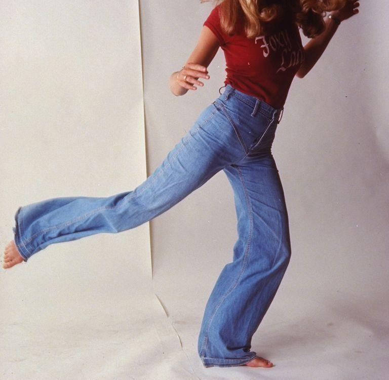 <p>A jeans ad showing the higher-waisted, softer denim of the late '70s.</p>