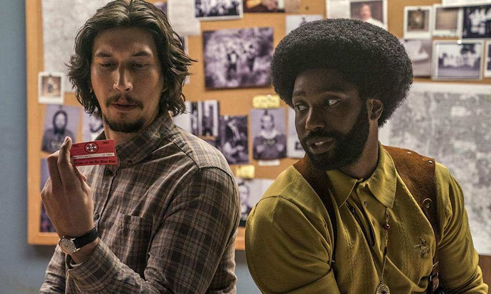 <p>Spike Lee is back with his textured and provocative brand of filmmaking drama as he tells the story of a black cop who infiltrated the Ku Klux Klan. Yes it's funny where it needs to be, but don't get it twisted, the film refuses to shy away from the shocking state of racism in America that has been seen since the birth of the nation. That's where it's greatness hits hardest and why it won the Grand Prix at Cannes. </p>