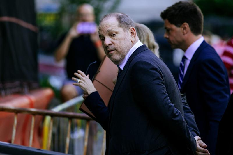 Harvey Weinstein arrives for appearance in criminal court on July 11, 2019 in New York City.