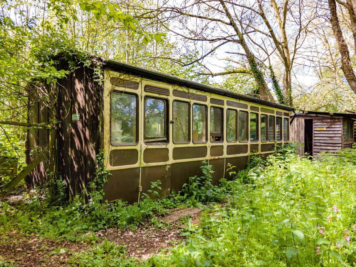 A railway carriage could potentially make a great work from home space. (Supplied Stags)