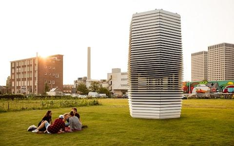The 'Smog Free Tower' will continue its world tour in Krakow this week - Credit: Studio Roosegarde