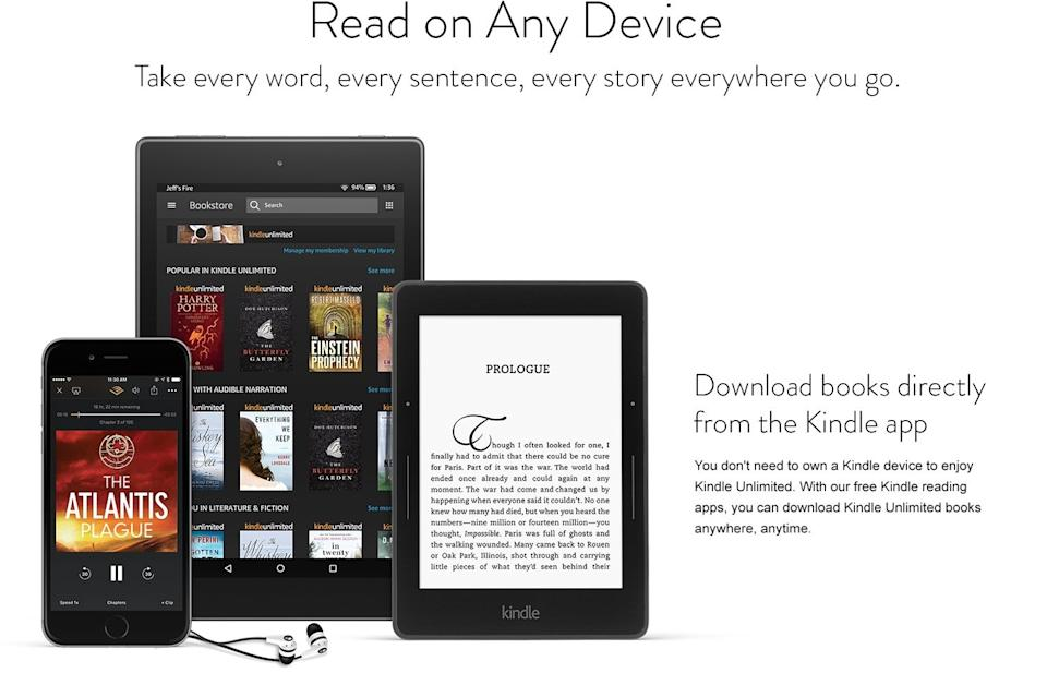 Save 75 percent on two months of Kindle Unlimited. (Photo: Amazon)
