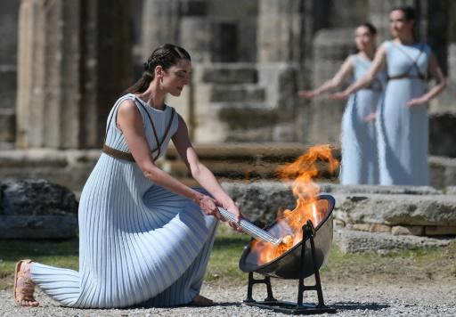 The virus affected even the traditional lighting ceremony in ancient Olympia