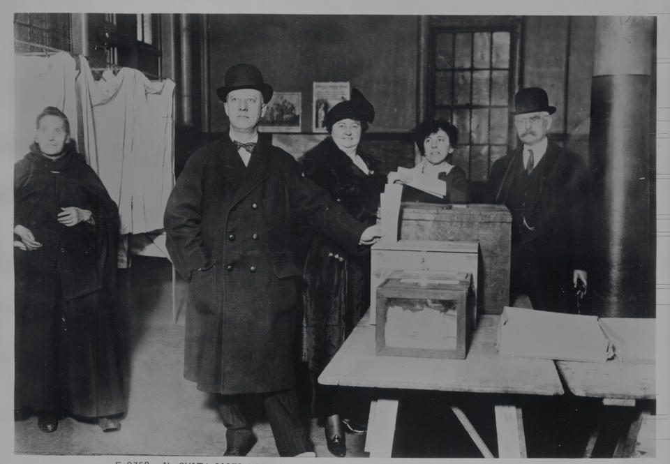 Democrat Alfred E. Smith casts his ballot in his first gubernatorial race, 1918. (Getty Images)