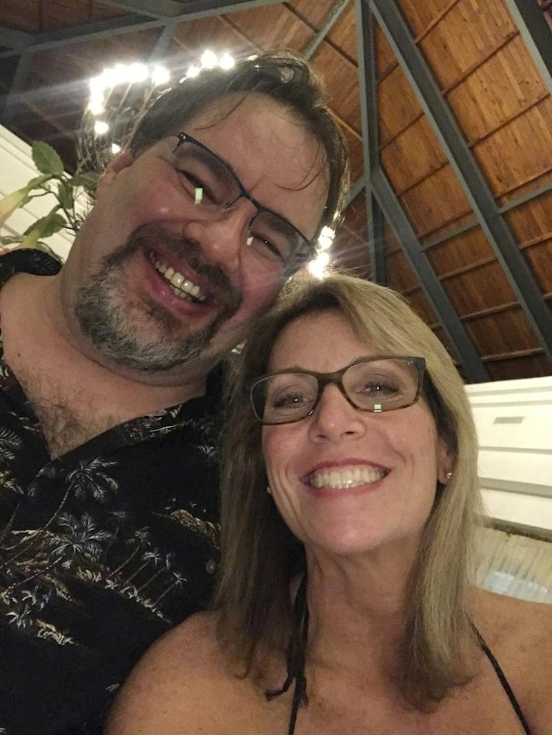 In this undated selfie taken by Tammy Lawrence-Daley, shows her with her husband Chris Daley. Police in the Dominican Republic are investigating an attack on Lawrence-Daley at a resort in Punta Cana, Dominican Republic in January. Lawrence-Daley made the attack public on social media, detailing a vicious hours-long assault by a man she said was wearing the uniform of an all-inclusive resort.