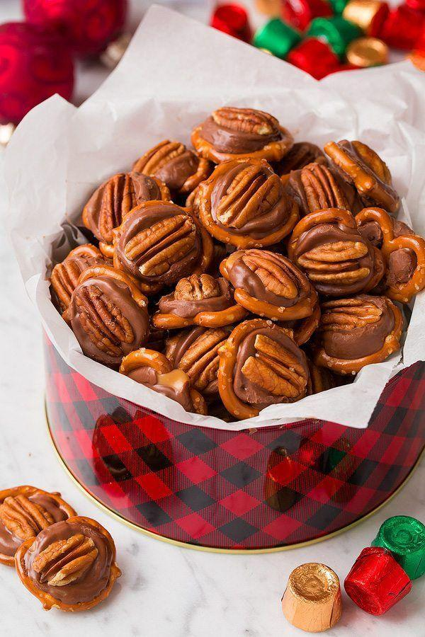 """<p>These pretzel turtles hit the dessert trifecta: sweet, salty, and crunchy.</p><p><strong>Get the recipe at <a href=""""https://www.cookingclassy.com/pretzel-turtles-3-ingredients/"""" rel=""""nofollow noopener"""" target=""""_blank"""" data-ylk=""""slk:Cooking Classy"""" class=""""link rapid-noclick-resp"""">Cooking Classy</a>. </strong></p>"""