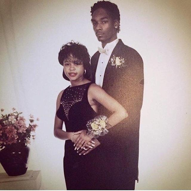 "<p>How amazing is this prom photo of Snoop Dogg and his high school sweetheart, Shante, who eventually became his wife?The rapper — who looked quite dapper — shared this pic of them in a traditional ""prom pose"" in honor of their 19th wedding anniversary in 2016. Looks like they were meant to be… (Photo: <a href=""https://www.instagram.com/p/BGpqmZbP9Ob/"" rel=""nofollow noopener"" target=""_blank"" data-ylk=""slk:Snoop Dogg via Instagram"" class=""link rapid-noclick-resp"">Snoop Dogg via Instagram</a>) </p>"