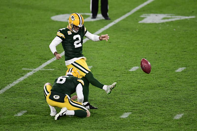 Mason Crosby #2 of the Green Bay Packers
