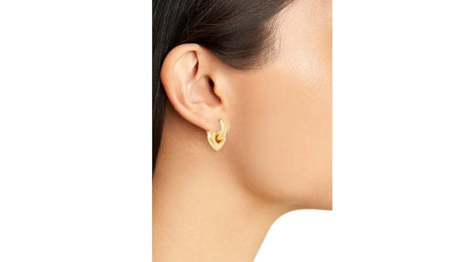 Madewell Heart Chunky Huggie Hoop Earrings - $14 (originally $24)
