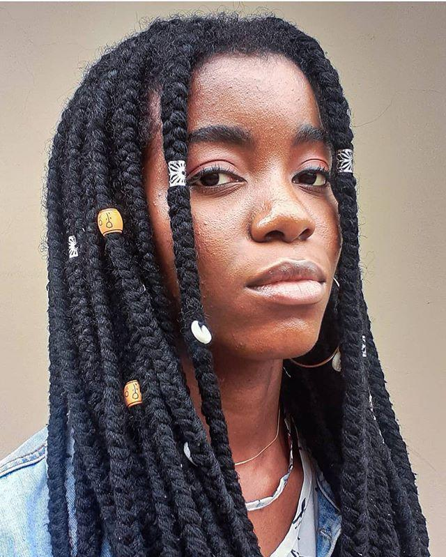 "<p>Want a style that's both fun and neutral? Yeah, go for these beaded yarn braids. Hot tip: You can even <strong>buy <a href=""https://www.amazon.com/Dreadlocks-Braiding-Decoration-Accessories-Jewelry/dp/B07K43YHVY/?tag=syn-yahoo-20&ascsubtag=%5Bartid%7C10049.g.33645614%5Bsrc%7Cyahoo-us"" rel=""nofollow noopener"" target=""_blank"" data-ylk=""slk:packs of beads"" class=""link rapid-noclick-resp"">packs of beads</a> on Amazon to swap 'em out when you get bore</strong><strong>d. </strong><br></p><p><a href=""https://www.instagram.com/p/CCnNpgLADj_/?utm_source=ig_embed&utm_campaign=loading"" rel=""nofollow noopener"" target=""_blank"" data-ylk=""slk:See the original post on Instagram"" class=""link rapid-noclick-resp"">See the original post on Instagram</a></p>"