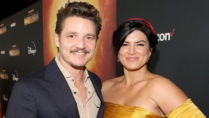 Pedro Pascal and Gina Carano
