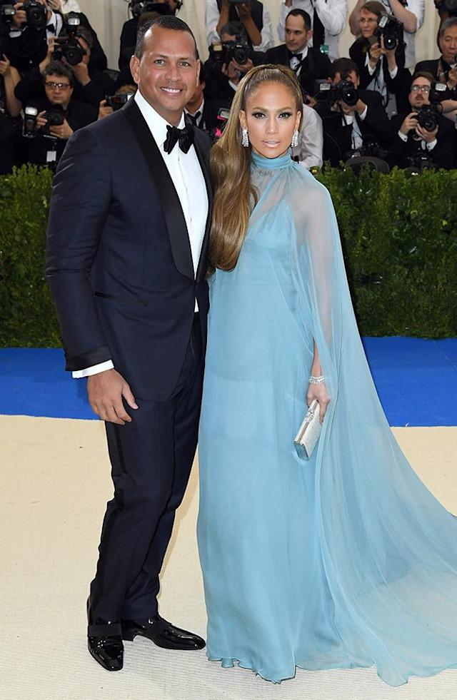 Jennifer Lopez and Alex Rodriguez at the Met Gala. (Photo: Karwai Tang/WireImage)