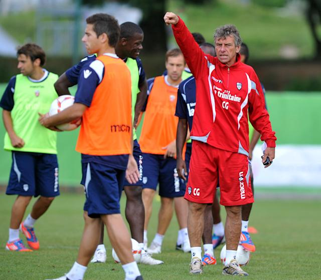 Lorient's head coach Christian Gourcuff (R) takes part in a training session on August 7, 2012 at the Moustoir Stadium in Lorient, western France, prior the French Championship League 1 football matches beginning on August 10, 2012. FP PHOTO FRANK PERRYFRANK PERRY/AFP/GettyImages