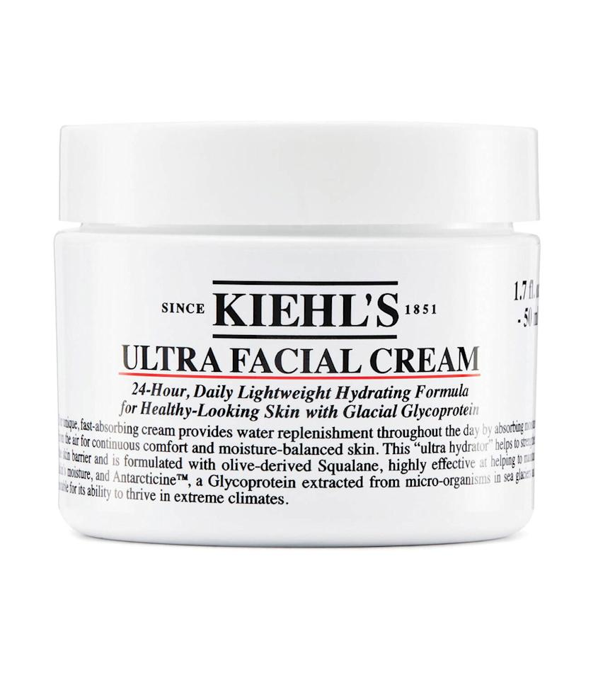 """<p><strong>Buy: $32; <em><a href=""""https://click.linksynergy.com/deeplink?id=93xLBvPhAeE&mid=36177&murl=https%3A%2F%2Fwww.kiehls.com%2Fskincare%2Fmoisturizers%2Fultra-facial-cream%2F622.html&u1=SL%2CThe5FaceMoisturizersYouNeedToTryin2020%2Cpshannon1271%2CSki%2CGal%2C7692253%2C202003%2CI"""" target=""""_blank"""" rel=""""nofollow"""">kiehls.com</a></em></strong></p> <p>This gentle formula gets its power from squalene, a moisturizing, olive-derived oil. It's also armed with unique glacial glycoprotein, which—you guessed it—comes from sea glaciers and protects against water loss.</p>"""
