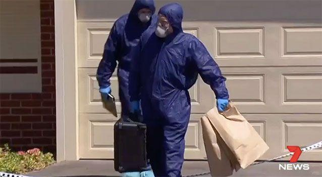 Forensic officers scoured the home on Friday. Source: 7 News