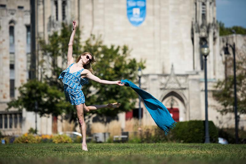 Julia Erickson of the Pittsburgh Ballet Theatre shows off her dance moves.