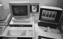 <p>As personal computers became more common, Apple and IBM raced to produce the best machine for general use. Featuring floppy disk drives, clacky keyboards, and low resolution graphics, these early computers revolutionized how we work and ushered in the modern era of office technology.</p>