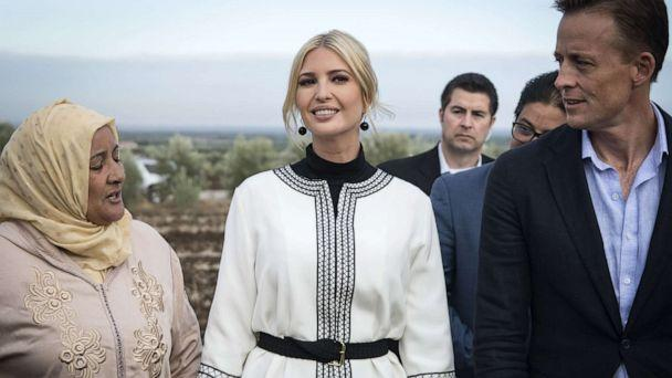 PHOTO: Ivanka Trump meets with local women farmers in the Moroccan city of Sidi Kacem on November 7, 2019. (Fadel Senna/AFP via Getty Images)