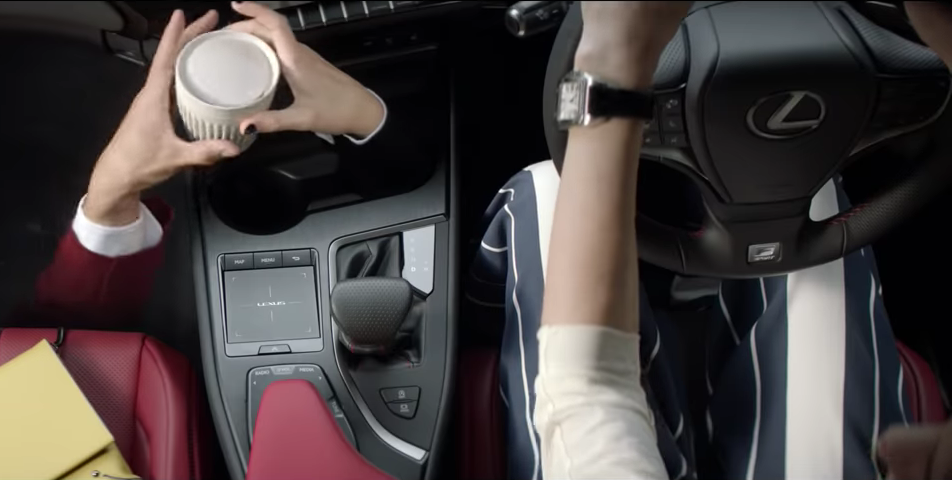 The Huskee cup features in the ad for the new Lexus UX. Photo: Lexus