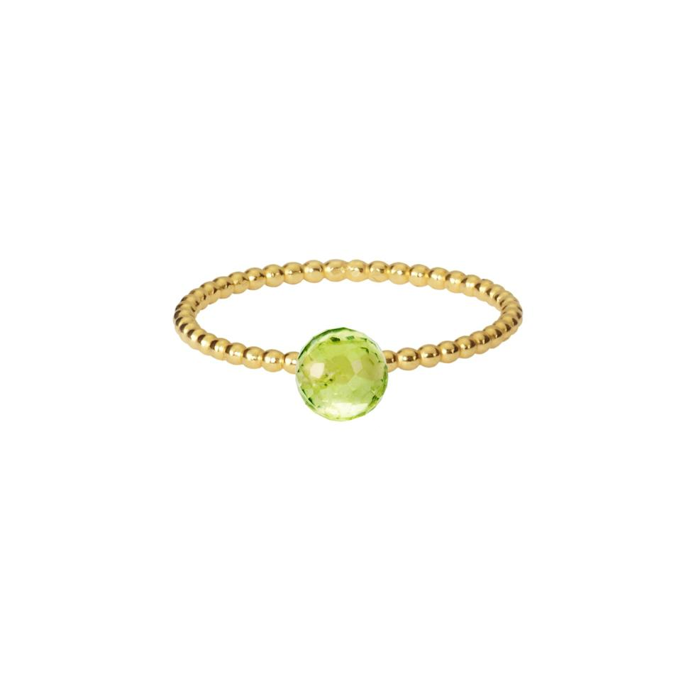 """<p>Sometimes, simple is better. A delicate beaded band is the perfect way to show off this leafy green peridot, and makes this ring brilliantly stackable. </p><p>Gold and peridot stacking ring, £125, Phoebe Coleman</p><p><a class=""""body-btn-link"""" href=""""https://phoebecoleman.com/products/peridot-stacking-ring-gold?_pos=1&_sid=a0f32dca9&_ss=r"""" target=""""_blank"""">SHOP NOW</a></p>"""
