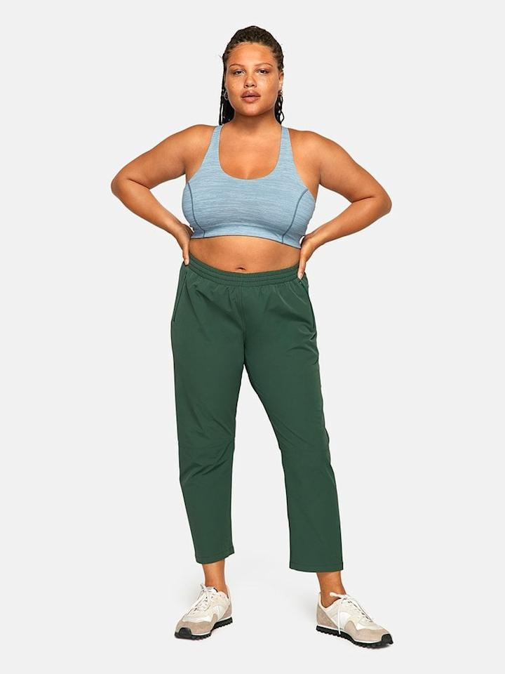 "<p>These <a href=""https://www.popsugar.com/buy/Outdoor-Voices-RecTrek-Pants-490058?p_name=Outdoor%20Voices%20RecTrek%20Pants&retailer=outdoorvoices.com&pid=490058&price=85&evar1=fit%3Aus&evar9=46009754&evar98=https%3A%2F%2Fwww.popsugar.com%2Ffitness%2Fphoto-gallery%2F46009754%2Fimage%2F46609609%2FOutdoor-Voices-RecTrek-Pant&list1=shopping%2Cworkout%20clothes%2Cathleisure%2Coutdoor%20voices&prop13=mobile&pdata=1"" rel=""nofollow"" data-shoppable-link=""1"" target=""_blank"" class=""ga-track"" data-ga-category=""Related"" data-ga-label=""https://www.outdoorvoices.com/products/rectrek-pant?variant=29720852824142"" data-ga-action=""In-Line Links"">Outdoor Voices RecTrek Pants</a> ($85) look beyond comfortable.</p>"