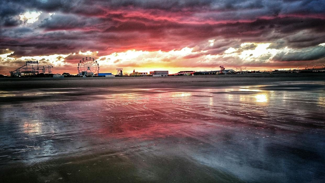 A dramatic sunset in Skegness