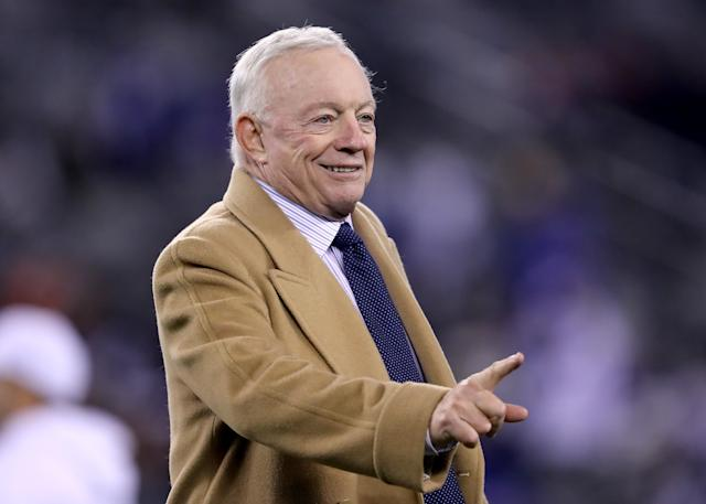 With Jason Garrett on the hot seat in Dallas, Jerry Jones doesn't seem willing to replace him with a college coach. (Elsa/Getty Images)